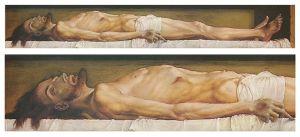 Hans Holbein El Joven, El cuerpo del Cristo muerto en la tumba, 1521