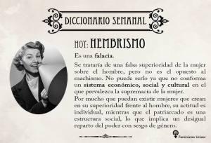 "Definición semanal de feminismo UZ: ""Hembrismo"""